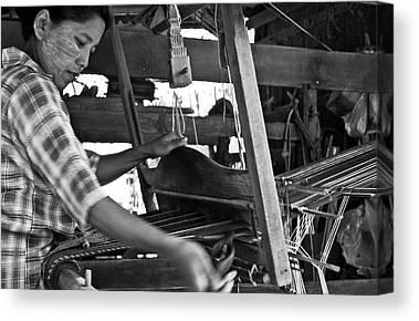 Bamboo House Photographs Canvas Prints
