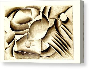 The Plateaus Drawings Canvas Prints