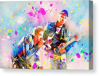 Coldplay Paintings Canvas Prints