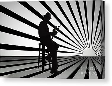 Trumpet Mixed Media Canvas Prints