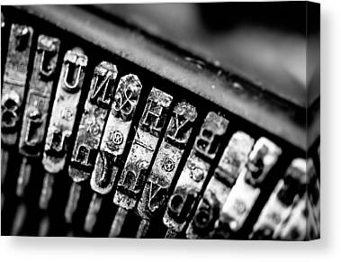 Typewriter Keys Canvas Prints