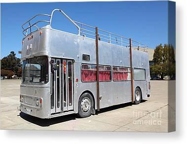 Bus In San Francisco Canvas Prints
