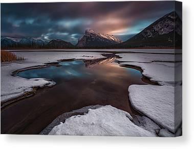 Vermillion Lakes Canvas Prints