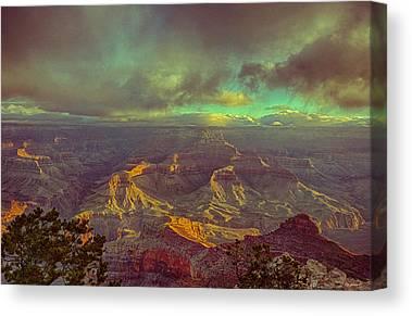 Early Morning At Grand Canyon Canvas Prints