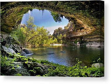 Pool In Cave Canvas Prints