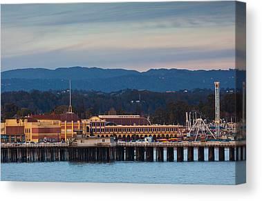 Santa Cruz Wharf Canvas Prints
