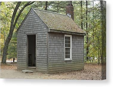 Thoreaus Cabin Canvas Prints