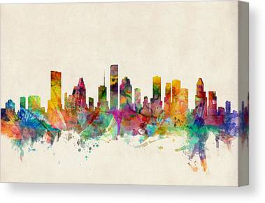 Houston Skyline Canvas Prints