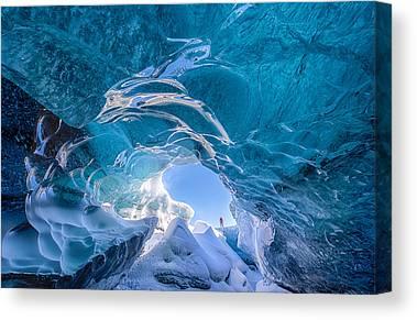 Vatnajokull Glacier Canvas Prints