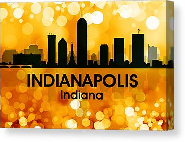 Indiana Landscapes Mixed Media Canvas Prints