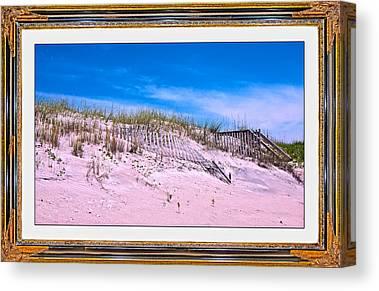 Sand Fences Mixed Media Canvas Prints