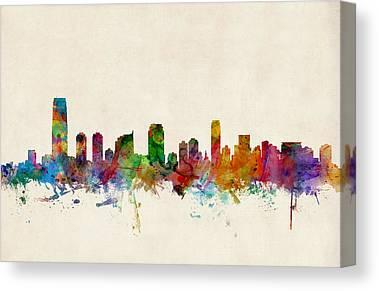 New Jersey Digital Art Canvas Prints
