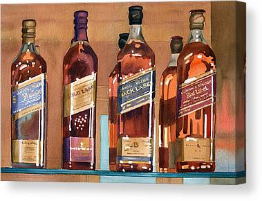 Whiskey Canvas Prints