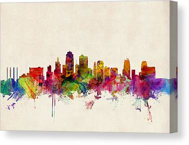 Kansas City Canvas Prints