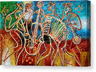 Klezmer Band Canvas Prints