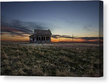 Prairie Sunset Canvas Prints