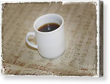 Love Coffee And Music Canvas Prints