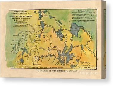Lisa Middleton Mississippi River Canvas Prints