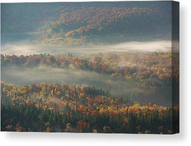 Fall Foliage New York Canvas Prints
