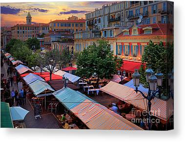 Cours Saleya Canvas Prints