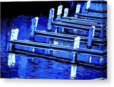 Wooden Platform Mixed Media Canvas Prints
