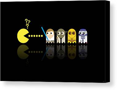 Pacman Canvas Prints