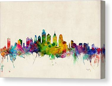 Philadelphia Skyline Canvas Prints