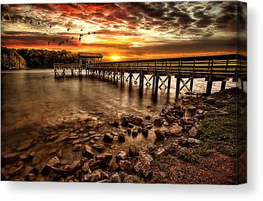 Piers Canvas Prints