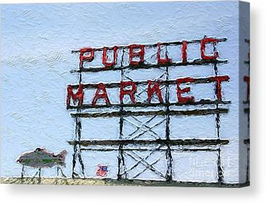 Pikes Place Canvas Prints