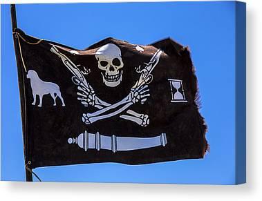 Piracy Jolly Roger Bones Danger Canvas Prints