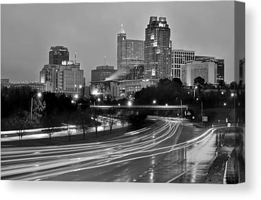 Downtown Raleigh Canvas Prints