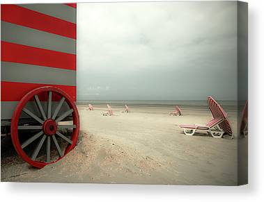 Red Wagon Canvas Prints