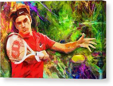 Roger Federer Canvas Prints