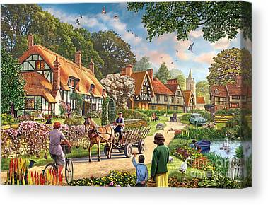 Horse And Cart Canvas Prints