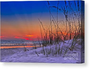 Jacksonville Beach Canvas Prints