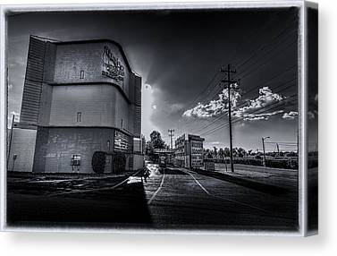 Silver Moon Drive In Canvas Prints