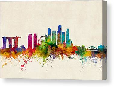 Singapore Skyline Canvas Prints