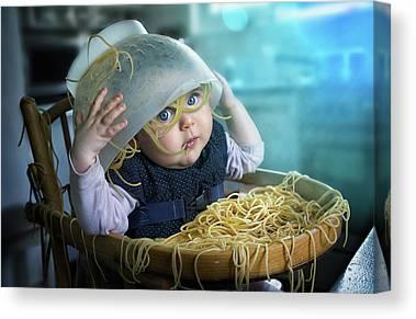 Spaghetti Photographs Canvas Prints