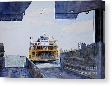 Staten Island Ferry Canvas Prints