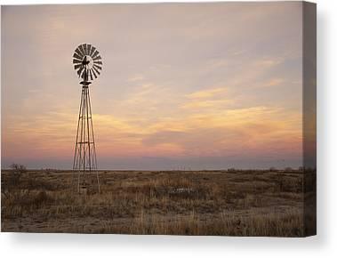Dry Lake Canvas Prints