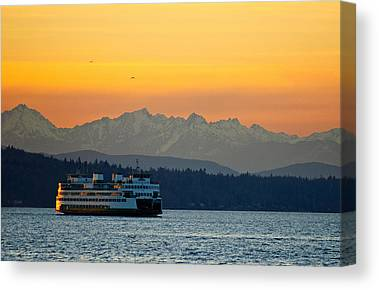 Pacific Northwest Ferry Canvas Prints