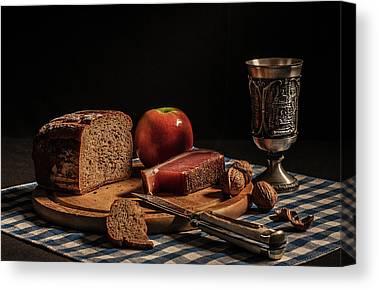 Checkered Tablecloth Canvas Prints
