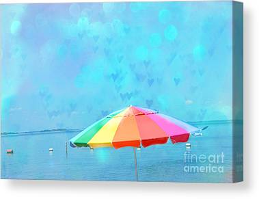 Ethereal Beach Scene Canvas Prints