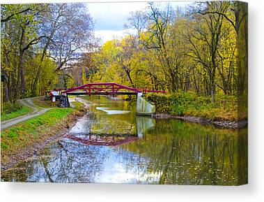Rivers In The Fall Digital Art Canvas Prints