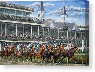 Kentucky Derby Canvas Prints