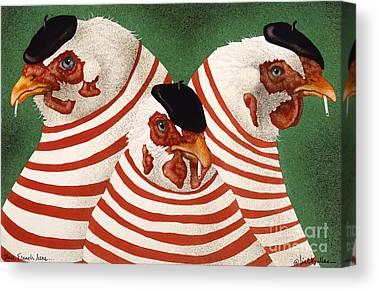 The Hen Canvas Prints