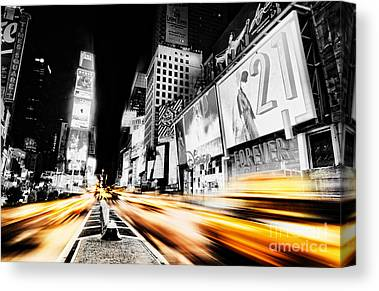 Fast Taxi Canvas Prints