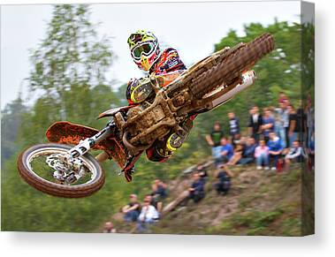 Motocross Canvas Prints