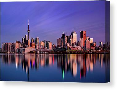 City Sunrises Canvas Prints