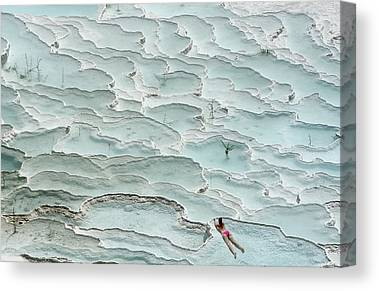 Pamukkale Canvas Prints